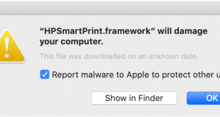 malware dari printer HP di mac